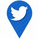 twitter blue and white location icon