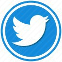 twitter blue circle icon