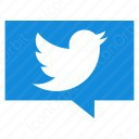 twitter blue message icon