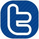 twitter white blue icon