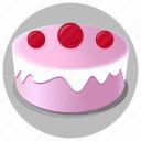 Cake with Cherry icon