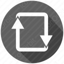 arrow rectangle icon