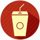 Juice with straw icon