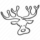 Reindeer Outline icon