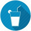 Juice with lemon icon
