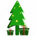 Christmas Tree with Gift Box icon