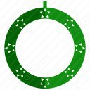 Circle Christmas Wreath icon