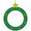 Christmas Wreath with Star icon