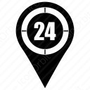 Clock locator icon