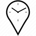 Clock with location icon