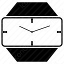 Clock with 3d view icon