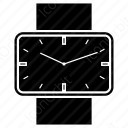 Clock with black rectangular dial icon