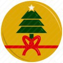 Christmas Tree with Gift Ribbon icon