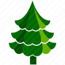 Green Christmas Tree Icon