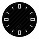 Clock With Black Classic dial Icon