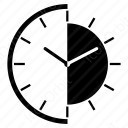 Watch Black and white dial icon