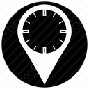 Watch with locator icon
