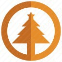Tree Circle Christmas Icon