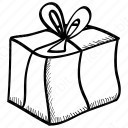 Outline Gift Box Icon