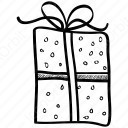 Outline Gift Box with Ribbon Packing icon