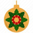 Mistletoe in Baubles icon