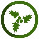 Mistletoe Circle Icon