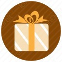 Brown Stripped Gift Box icon