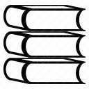 Stacked Outline Books icon