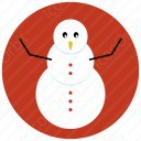 Snow Man Circle Icon