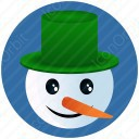 Snow Man Face icon