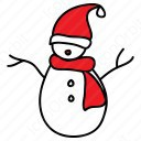 Snow Man with Cap icon