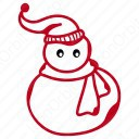 Snow Man Outline Icon