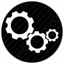 Set Of 3 Gears icon