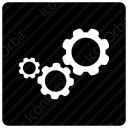 Settings gears icon