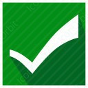 Curved Checkmark icon