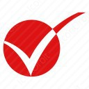 Circle Red Checkmark icon