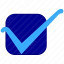Blue Square Checkmark icon