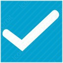 Square Blue Checkmark icon