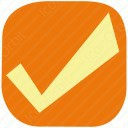 Orange Square Checkmark icon