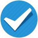 Blue Shadow Circle Checkmark icon