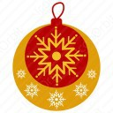 Snow Flakes in Baubles icon