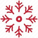 Red Snow Flake icon