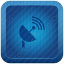 Blue Squre Satelite Icon