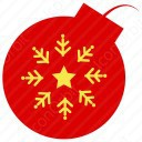 Christmas Baubles Snow Flake Icon