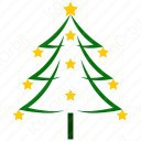 Color Outline Christmas Tree icon