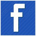 Blue Facebook Icon
