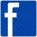 Blue Square Facebook Logo icon