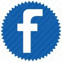 Circle Facebook Logo icon