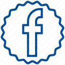 Facebook Color Outline Logo icon