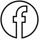 Circle Outline Facebook Logo icon